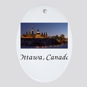 Ottawa Skyline Ornament (Oval)