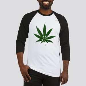 Simple Marijuana Leaf Baseball Jersey