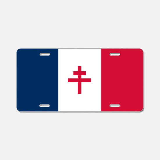 Free France Aluminum License Plate
