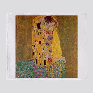 The Kiss by Klimt Throw Blanket