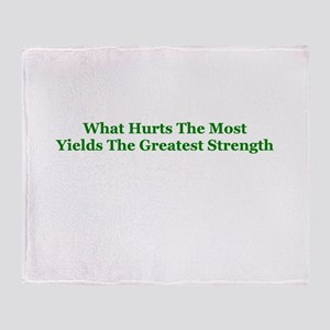 Greatest Strength Throw Blanket