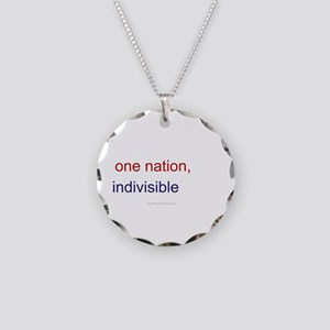One Nation Indivisible Necklace Circle Charm