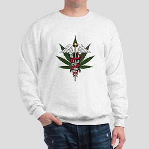 Medical Marijuana Caduceus Sweatshirt