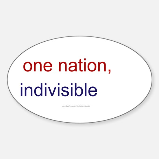 One Nation Indivisible Sticker (Oval)