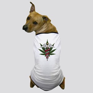 Medical Marijuana Caduceus Dog T-Shirt