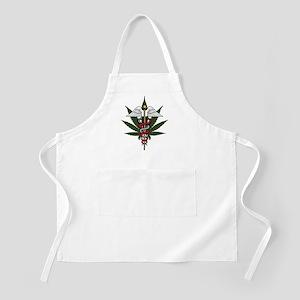 Medical Marijuana Caduceus BBQ Apron