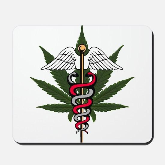 Medical Marijuana Caduceus Mousepad