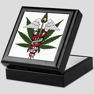 Medical Marijuana Caduceus Keepsake Box
