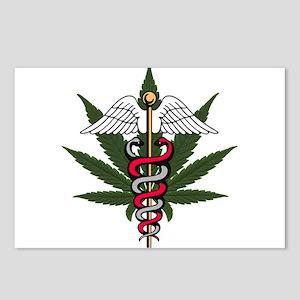 Medical Marijuana Caduceus Postcards (Package of 8