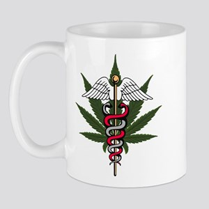 Medical Marijuana Caduceus Mug