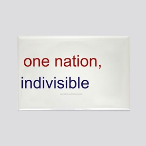 One Nation Indivisible Rectangle Magnet