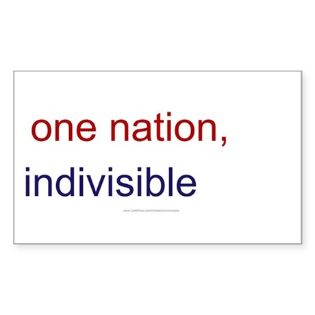 One Nation Indivisible Sticker (Rectangle 10 pk)