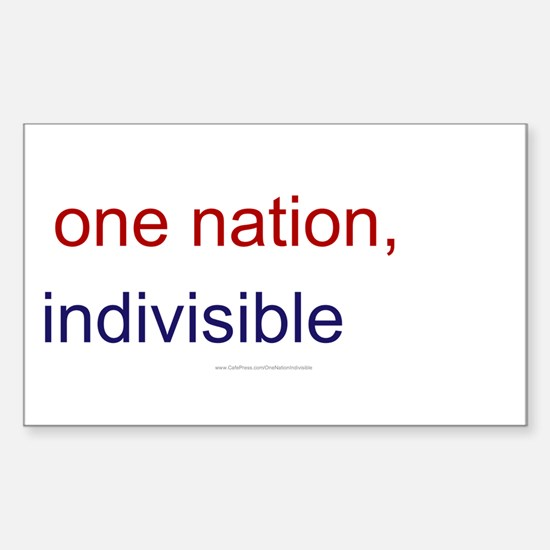 One Nation Indivisible Sticker (Rectangle)