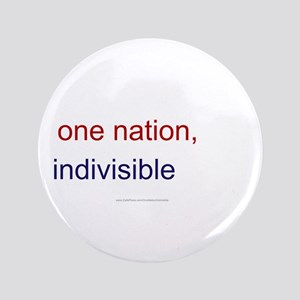 """One Nation Indivisible 3.5"""" Button (100 pack)"""