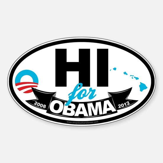 Hawaii for Obama 2012 Sticker (Oval)