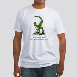 Adorable Velociraptor Fitted T-Shirt