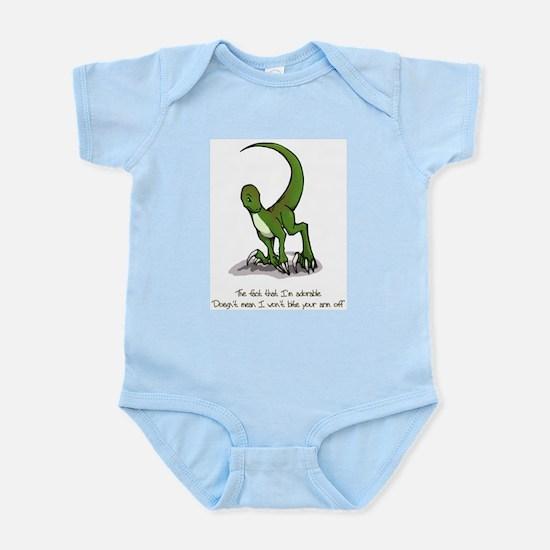 Adorable Velociraptor Infant Creeper