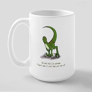 Adorable Velociraptor Large Mug