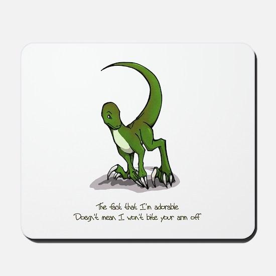 Adorable Velociraptor Mousepad