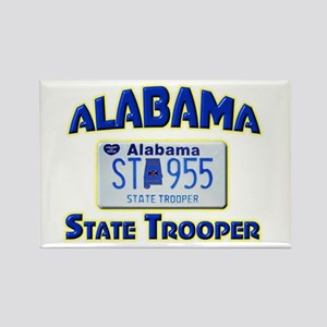 Alabama State Trooper Rectangle Magnet
