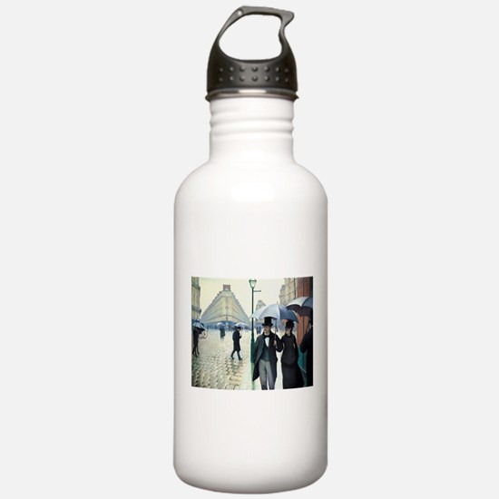 Paris Street, Rainy Day Water Bottle