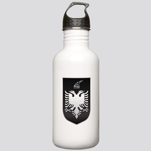 Albanian State Emblem Stainless Water Bottle 1.0L