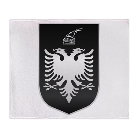 Albanian State Emblem Throw Blanket