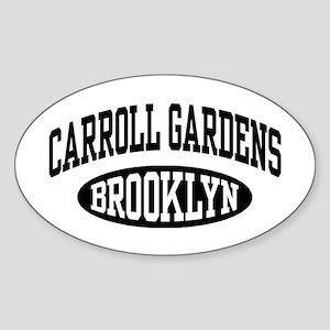 Carroll Gardens Brooklyn Sticker (Oval)