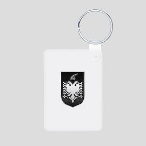 Albanian State Emblem Aluminum Photo Keychain