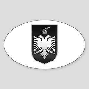 Albanian State Emblem Sticker (Oval)