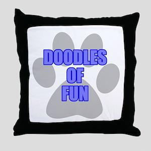 Fun Labradoodle Throw Pillow