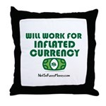 Will Work Inflation Throw Pillow