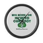 Will Work Inflation Large Wall Clock