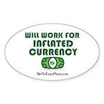 Will Work Inflation Sticker (Oval 50 pk)