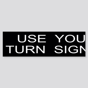 Turn Signals Custom Sticker (Bumper)