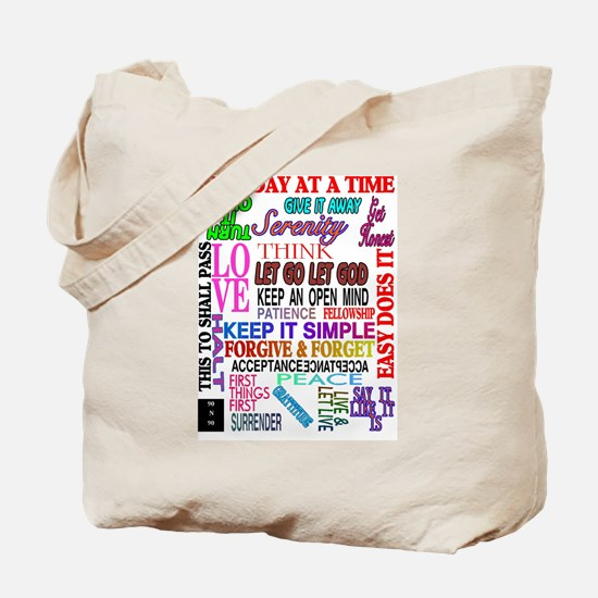 Cute Narcotics anonymous Tote Bag