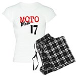 Pajamas add race # (pants black-pink)
