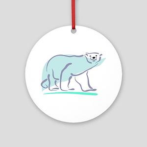 Polar Bear100 Ornament (Round)