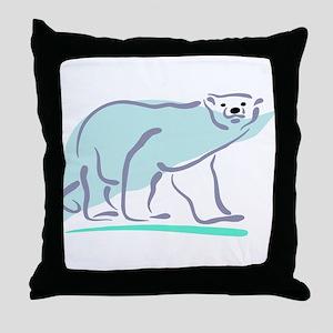 Polar Bear100 Throw Pillow