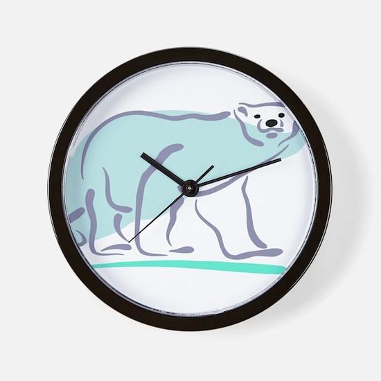 Polar Bear100 Wall Clock