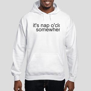 It's Nap O'clock Somewhere Hooded Sweatshirt