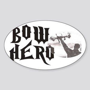 Bow Hero Sticker (Oval)