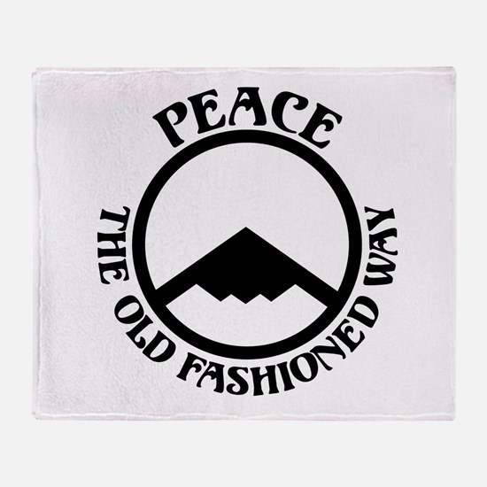 Peace with Stealth Throw Blanket