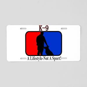 K9 Lifestyle Aluminum License Plate