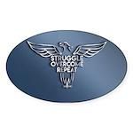 Struggle Overcome Repeat - Blue/silver Sticker