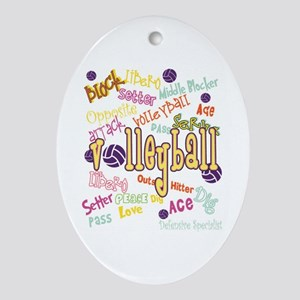 Volleyball Ornament (Oval)