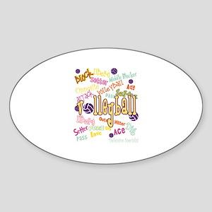 Volleyball Sticker (Oval)