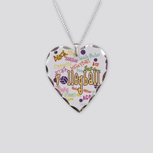Volleyball Necklace Heart Charm