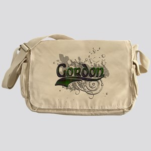 Gordon Tartan Grunge Messenger Bag