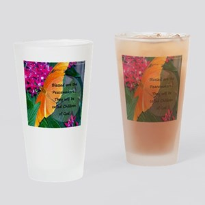 Peacemaker Butterfly Drinking Glass
